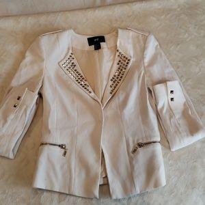 Sassy white blazer